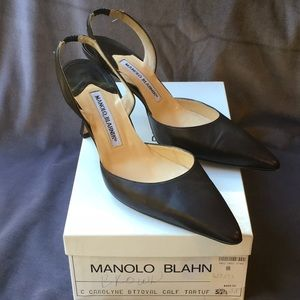 Manolo blahnik rich brown. Carolyne ws241